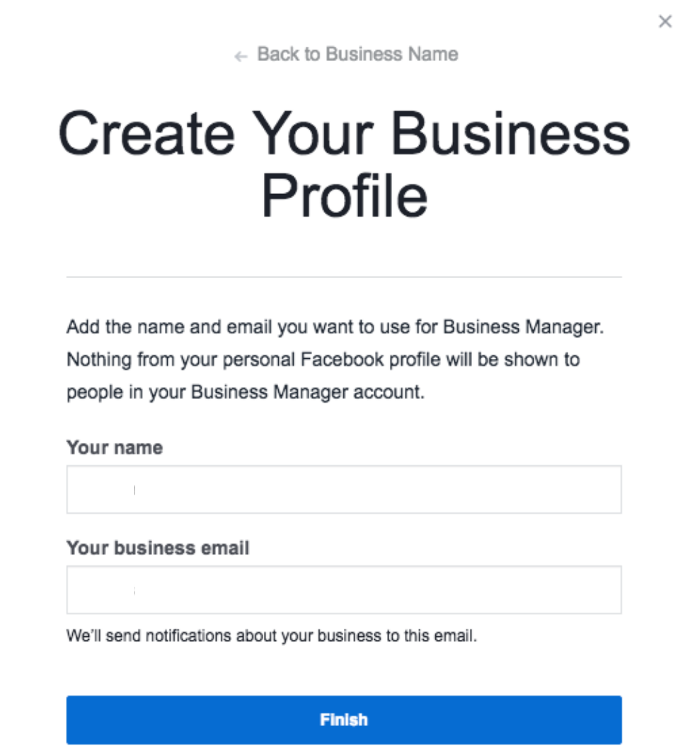 Creating Business Profile on Facebook Business manager