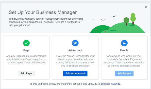 Completing Setting on Facebook Business manager