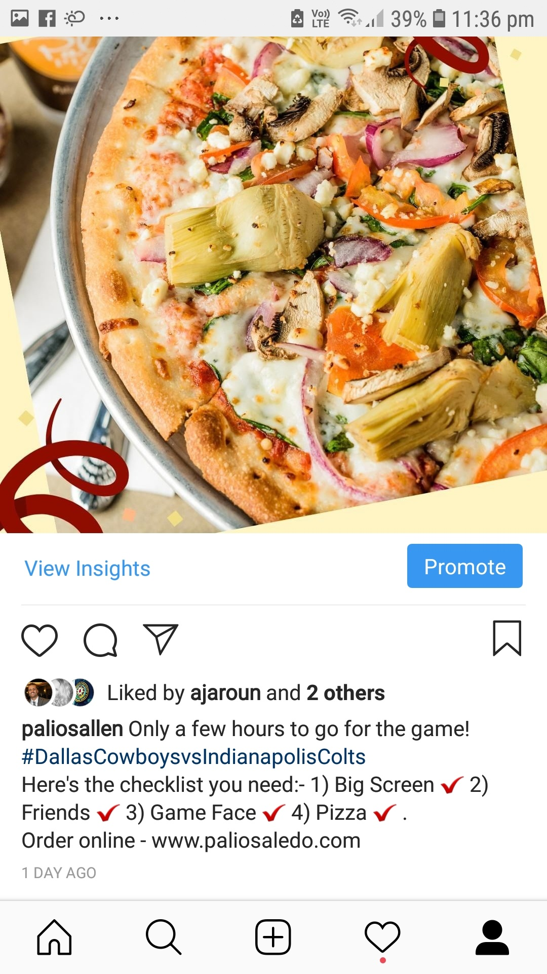 Create Promotions within the App- advertising on Instagram