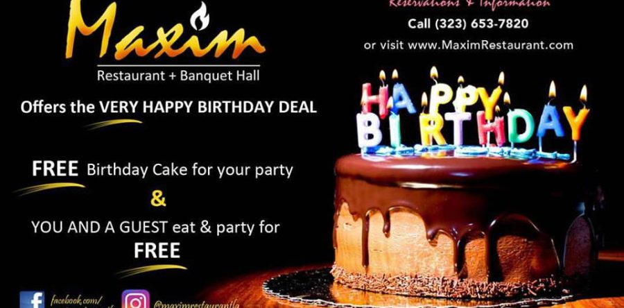 Maxim Birthday Emails to Boost Customer Engagement for your Restaurant