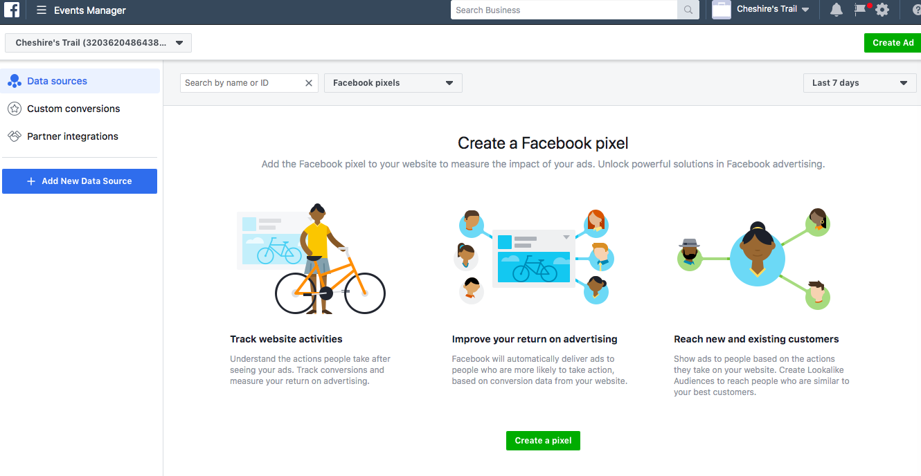 Creating Retargeting  Ads on Facebook; Creating a Facebook Pixel On Business manager
