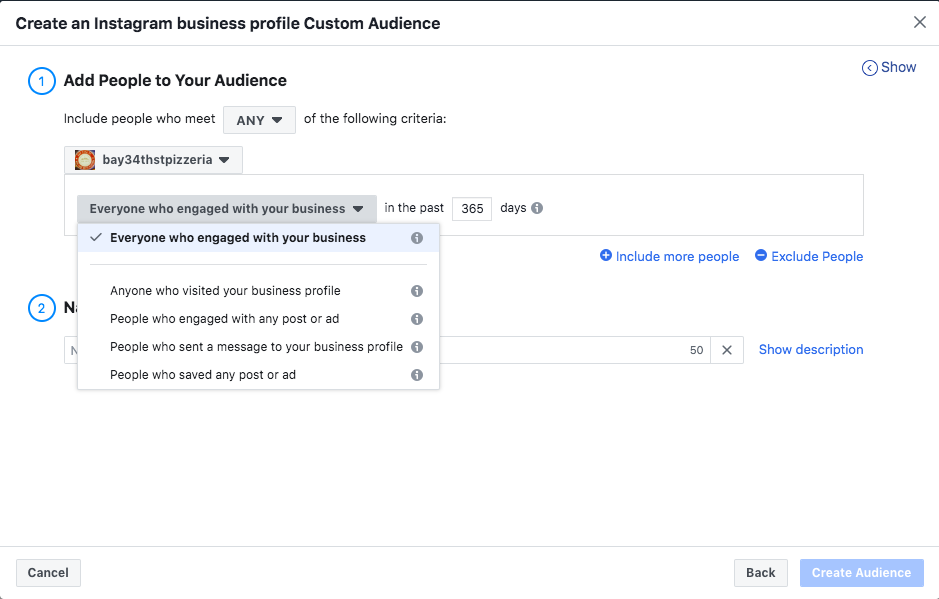 Creating Retargeting  Ads on Facebook; Creating a custom audience based on page engagement
