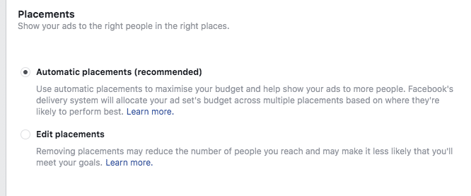 Creating Retargeting  Ads on Facebook; Ad Placement