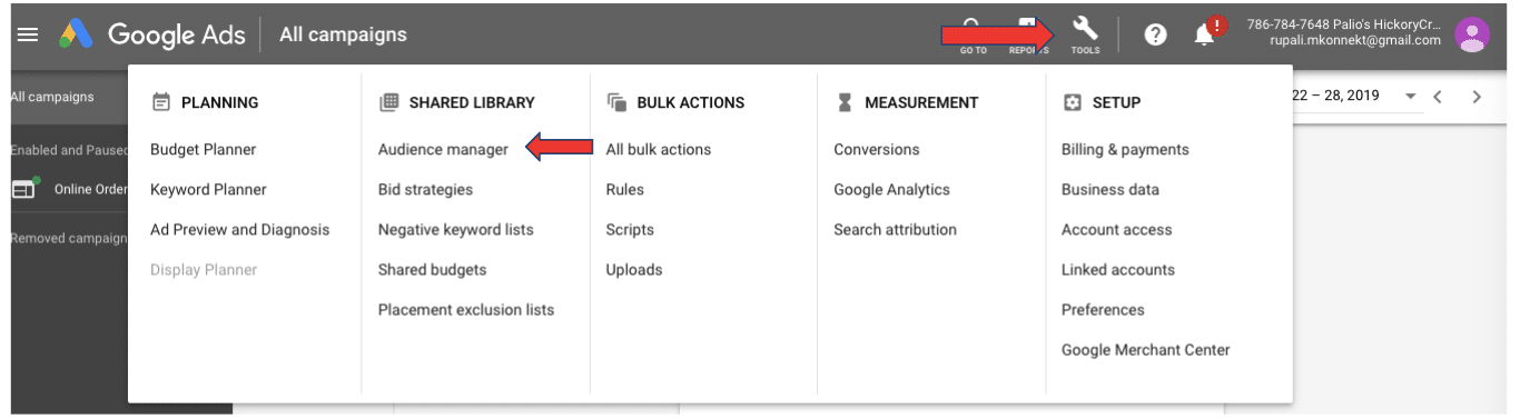 Setting up Remarketing Tag in Google Ads