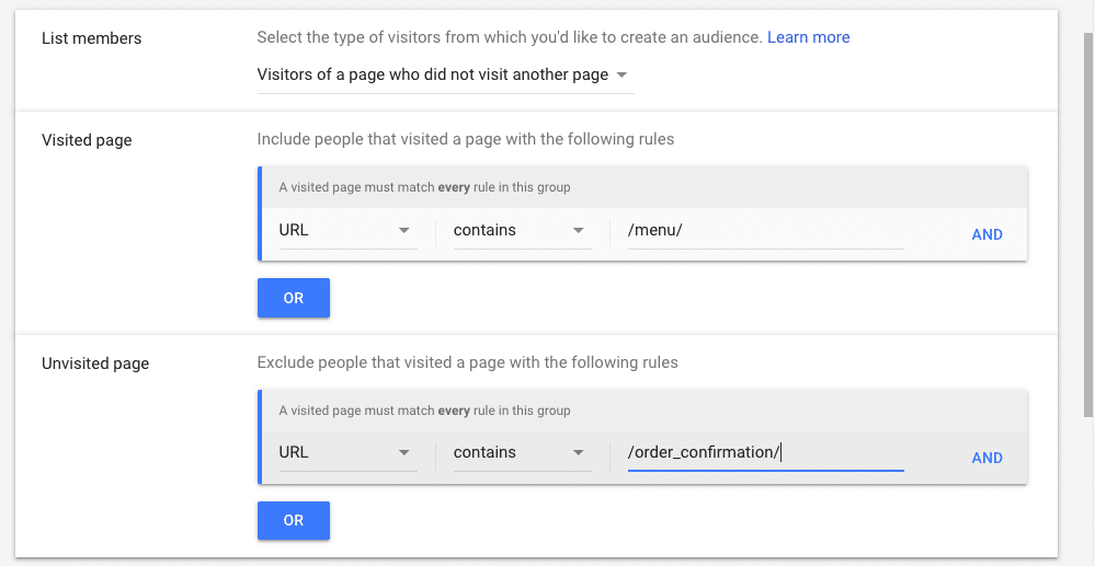 Audience Types-Google Remarketing Campaign