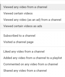 Creating a  remarketing Audience from YouTube Users-Google Remarketing Campaign