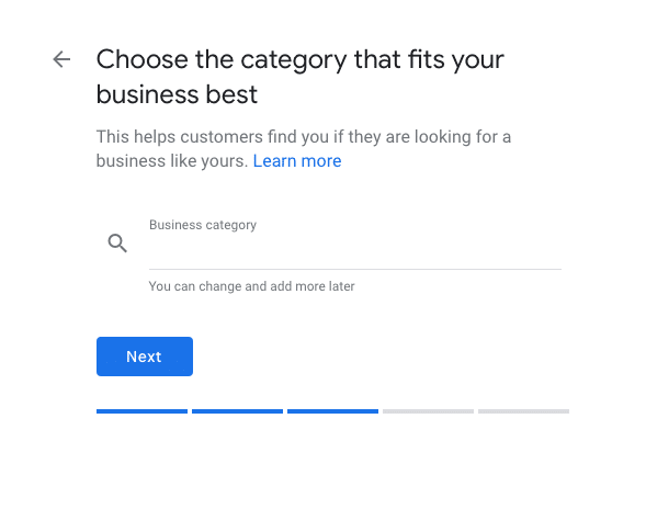 Selecting Business Category- Optimize Google My Business Listing for your Restaurant