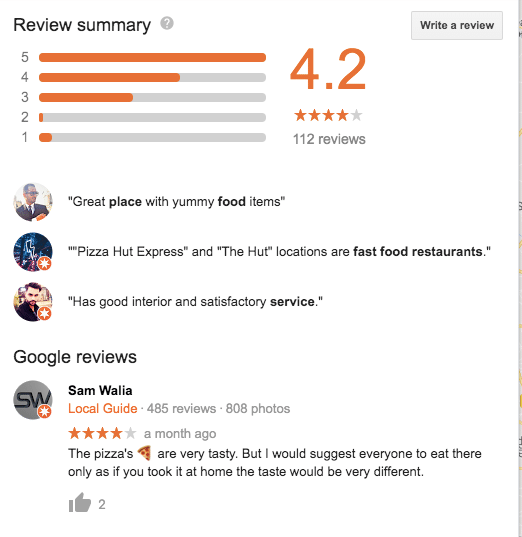 Google Reviews- Optimize Google My Business Listing for your Restaurant