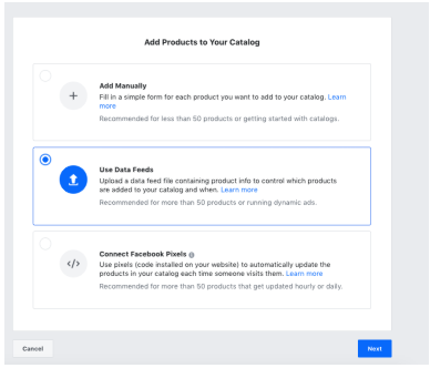 Using Data Feed to Add products to your Catalogue in Facebook Business Manager: Setting Up Dynamic Ads On Facebook