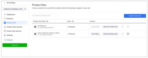 Creating A Product Set On Facebook Business Manager