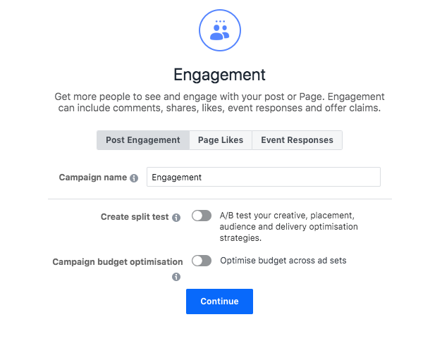 Engagement- Campaign Objectives; A Beginner's Guide to Advertising on Facebook