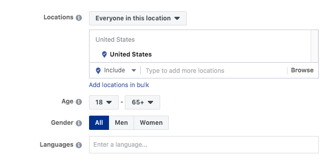 Location based targeting; A Beginner's Guide to Advertising on Facebook