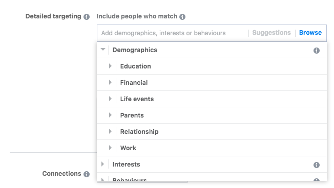 Detailed targeting; A Beginner's Guide to Advertising on Facebook