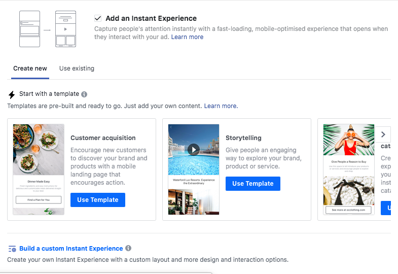 Instant experience Ads  : A Beginner's Guide to Advertising on Facebook