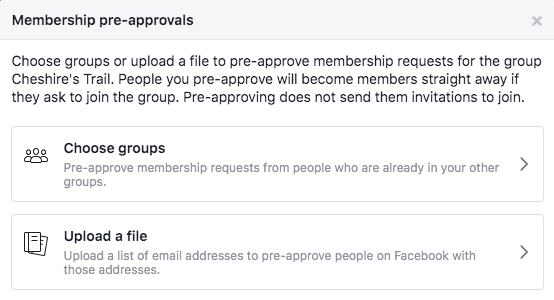 Facebook Group Post Approval