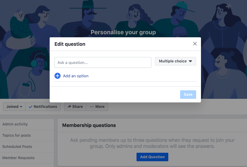 Facebook Group Join Question