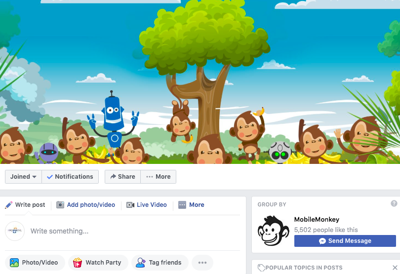 Mobile Monkey Island:Using Facebook Groups For Your Business