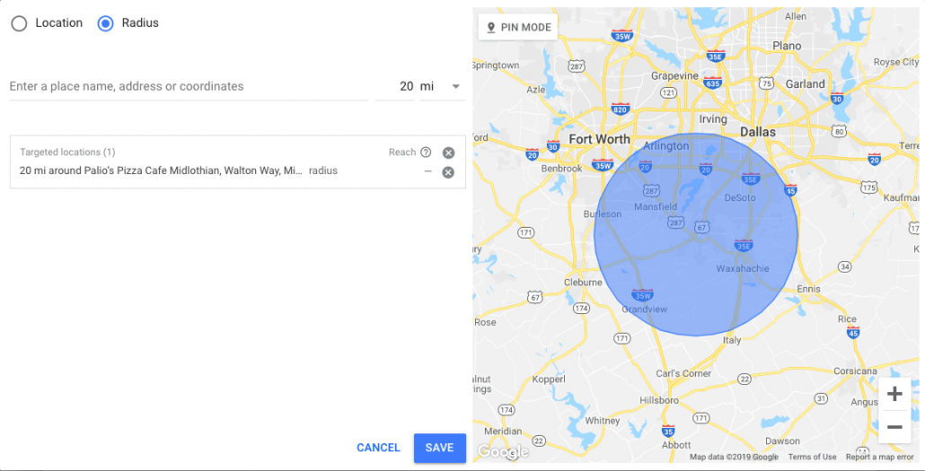 Geotargeting Setup on Google Ads- Add locations by radius