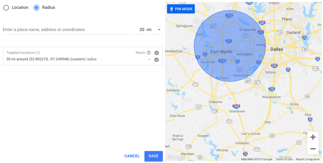 Geotargeting Setup on Google Ads- Adding locations by radius