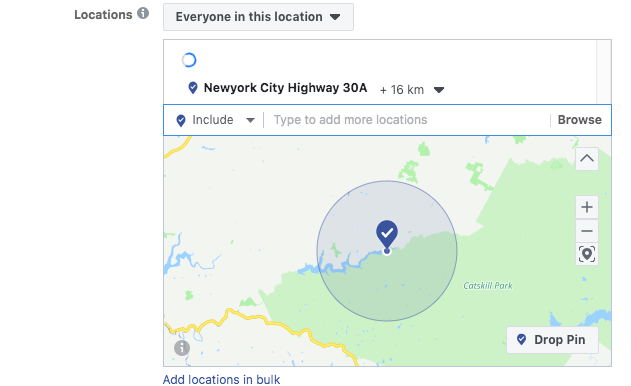 Hyperlocal Advertising on Facebook: location Targeting- Radius Targeting