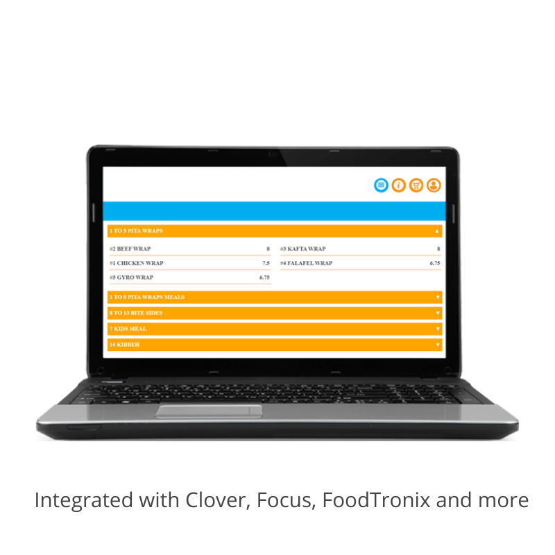 Foodkonnekt Online ordering solution for restaurants- desktop view