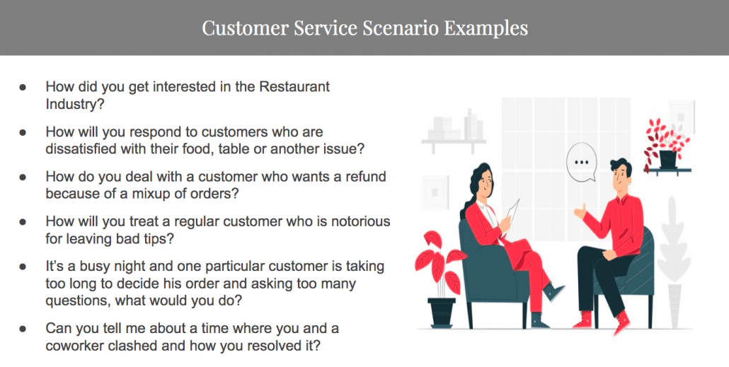 How to Find and Hire the Best Staff For Your Restaurant- Customer service scenario examples