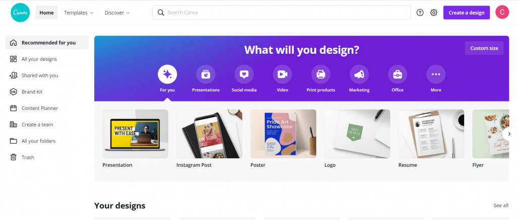 Canva- Image Creation tool for social media graphics